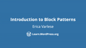 Introduction to Block Patterns