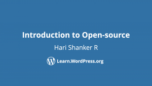 Introduction to Open-source