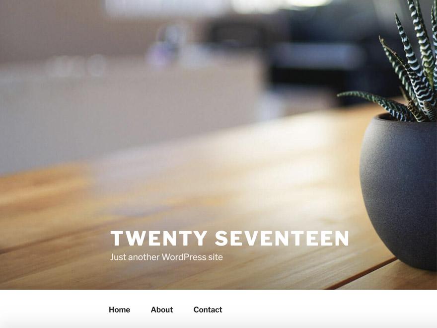 A screenshot of the Twenty Seventeen theme as an example of the child theme screenshot