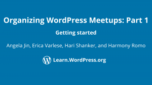 Organizing WordPress Meetups: Getting started