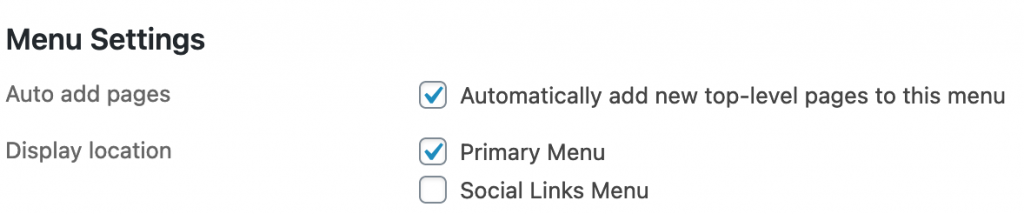 Automatically add pages to menu