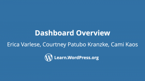 Dashboard overview Erica Varlese, Cuortney Patubo Kranzke, Cami Kaos