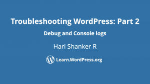 Troubleshoot WordPress Part 2