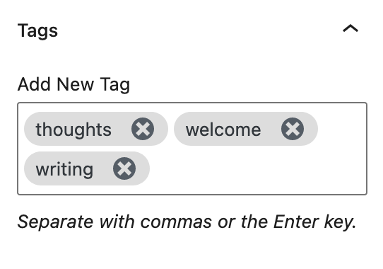 Multiple tags in a post