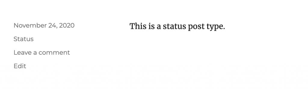 Status post type.