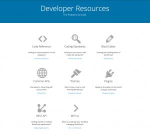 wordpress developer resources home page