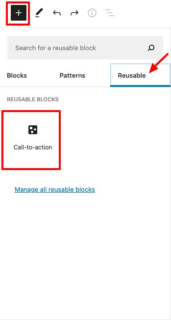Insert Reusable Block