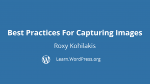 Title page for Best Practices for Capturing Images